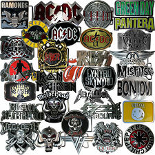 Buckles Ribbon Skirt Heavy Metal RocknRoll Hard Rock Punk Belt Buckles Kiss ACDC