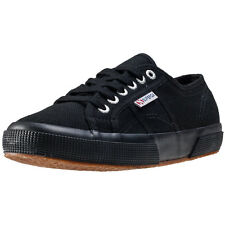 Superga 2750 Cotu Classic Womens Trainers Black Black New Shoes