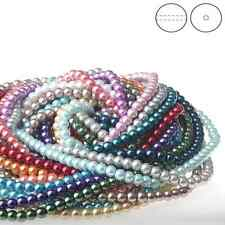 GLASS PEARL Round Loose Spacer BEADS Charm Craft 4/6/8mm 25Colors YOU Pick color