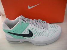 WOMENS NIKE AIR CAGE ADVANTAGE TENNIS SNEAKERS- 599365-140- WHITE/ GRN- SIZE6.5