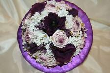 Wedding Bouquet in Purple/Pink/White/Ivory of silk & foam flowers