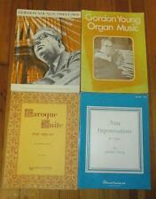 Lot of 4 Organ Music Books by Gordon Young