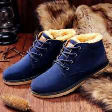 Fashion Men's Winter Snow Boots Suede Casual Thicken lace up cotton Warm Shoes