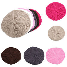 Fashion Women Winter Warm Knitted Crochet Slouch Baggy Beret Beanie Hat Ski Cap