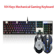Motospeed Inflictor CK104 Mechanical Gaming Keyboard LED Backlit For Gamer LOT