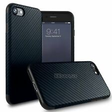 For Apple iPhone 6 7 Plus Luxury Carbon Fiber Soft TPU Silicone Thin Case Cover