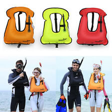 Mens Snorkeling Gear Swimwear Inflatable Adult Life Jackets Vest Swimwear LS