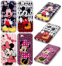 For iPhone 7 - Hard TPU Rubber Gummy Skin Case Cover Minnie Mickey Mouse Designs