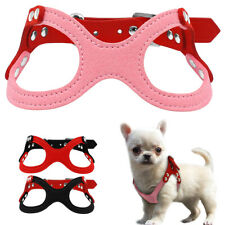 Cute Suede Leather Puppy Cat Dog Harness for Small Dogs Chihuahua Yorkie 3 Color