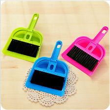 Hot 1Set Cleaning Sweep Keyboard Brush with Dustpan Fingerboard Broom Brush Set