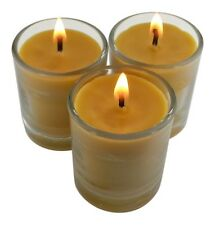CandleBakeryCandles 48 FLOWER SCENTS Organic Beeswax Glass Votive Candle Natural