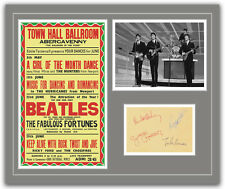 The Beatles Concert Poster and Autographs Memorabilia Poster 1963 Abergavenny