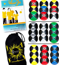 Pro Thud Juggling Balls- 3 Leather juggling Ball Set + Kid Jo Tricks DVD & Bag