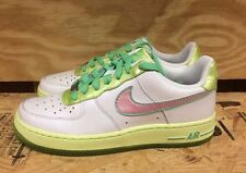 NIKE GIRLS AIR FORCE 1 LOW WHITE PINK GREEN EASTER GS KIDS SZ 4-7Y  314219-163 L