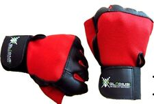 Leather Weight Lifting Gloves Gym Fitness Training Exercise Long Wrist Strap