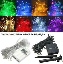 10M LED Battery/Solar Fairy String Light Outdoor Wedding Christmas Party Lights