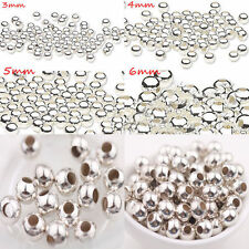 Wholesale Shiny Silver Metal Round Spacer Tube Bead Charm Finding 5/6/8mm