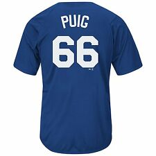 LA Dodgers Yasiel Puig #66 MLB Blue Name & Number Player T-Shirt Jersey: M-XL