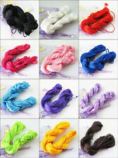 1Roll Nylon 25M/roll Chinese Knotting Thread Cords Beading Bracelet Rope 12Color