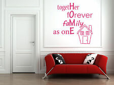 Family Home Quote, Vinyl Wall Art Sticker, Mural, Decal. Home, Living room Decor