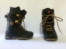 Ride Onyx Ladies Snowboard Boots Size 7.5 Color Black Leopard NEW