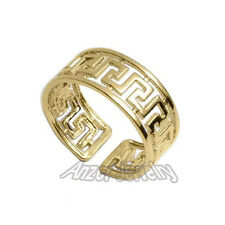 18k Solid Yellow Gold Greek Key Ring  size 6 to 7.5 #R1676