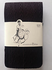Anthropologie Daisy Chain Tights Size S/M, Cables & Flowers, Dark Wine, Eloise