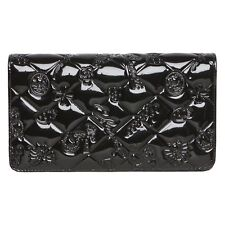 Chanel Black Icon Symbols Charms Patent Leather Wallet.  Gorgeous!