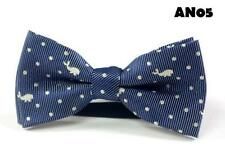 """Baby/Toddler/Young Boy's Blue Theme BowTies w/wo Navy Blue 25"""" or 36"""" Suspenders"""