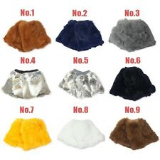 NEW 20cm 100% Real Genuine Rabbit Fur Women Leg Warmers Boots Cover color option