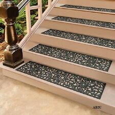 Anti-skid Black Durable Outdoor Rubber Scroll Stair Treads Sets Singles Door Mat