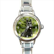 Scottish Terrier Puppy Dog Italian Charm Watch (Battery Included)