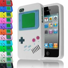 RETRO STYLE GAMEBOY CONSOLE INSPIRED SILICONE CASE COVER FOR IPHONE 4S 4