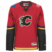 Calgary FLAMES Rbk Premier Officially Licensed NHL Women's Jersey, size: S or M