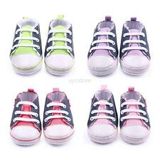 Infant Baby Boy Girl Child Soft Sole Shoes Toddler Canvas Sneakers Newborn 0-12M