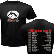 NEW THE DAMNED 40th ANNIVERSARY TOUR DATES 2017 BLACK SHIRT S-2XL SIZE ST1