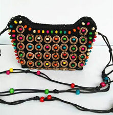 Fashion Coconut Shell Coin Wallet Zipper Handmane Colorful Purse Shoukder Bag