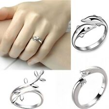 925Silver Plated finger ring fashion women lady Ring opening Adjustable