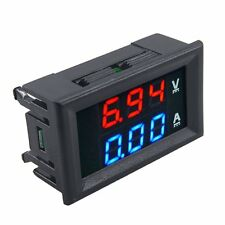 HOT DC 100V 10A Voltmeter Ammeter Blue+Red LED Dual Volt Amp Meter Gauge #AL