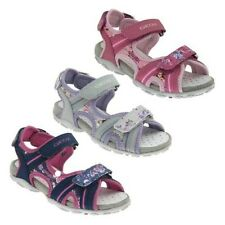 GEOX ROXANNE Girls Sandals shoes Touch fastener Leather footbed NEW