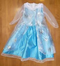 Girls Disney DELUXE Frozen ELSA Costume Dress Up Size 3T 4T/5T Blue Princess NWT