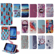 Phone Case For iPhone Huawei P8Lite Sony PU Patterned Leather Stand Wallet Cover