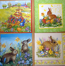 4sets paper napkins,Easter rabbit,eggs,church,cart,serviette,33cm-2pcs,decoupage