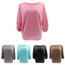 Fashion Women Ladies Batwing Sleeve Sweater Jumper Pullover Knitwear Baggy Tops