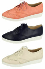 LADIES LACE UP SEMI BROGUE SHOES (SPOT ON F9813