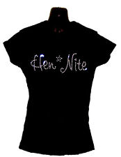 HEN NIGHT LADIES WEDDING CRYSTAL DIAMANTE FITTED T SHIRT (ANY SIZE)