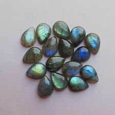 3x5mm - 13x18mm Natural Labradorite Cabochon Pear Top Quality Loose Gemstone