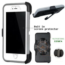 For Apple iPhone Case Cover Grey - (Belt Clip fits Otterbox Defender series)