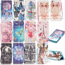 Card Holder Wallet Case PU Leather Stand Flip Cover for LG iPhone Samsung Phone