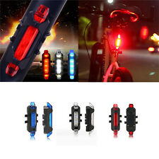 Rear Safety 5LED Bicycle Cycling Tail USB Rechargeable Red Warning Light Bike ab